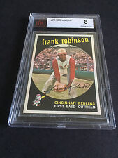 1959 TOPPS FRANK ROBINSON  BVG 8 CARD NO:435 NEAR MINT-MINT CONDITION