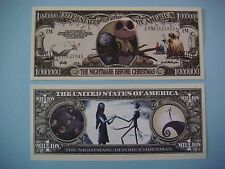 The NIGHTMARE BEFORE CHRISTMAS Movie ~*~ Cool $1,000,000 One Million Dollar Bill