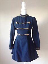 VTG  Military Cadet Marching Band Ringmaster Ornate Jacket Dress Cosplay S/m