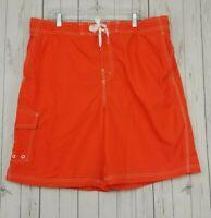 NWOT Joe Boxer Board Swim Trunks Shorts Men's XXL Orange