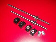 2 anti backlash ballscrew RM1605-500mm/RM2005-1020mm+BK/BF15 end bearing CNC set