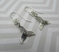 Mermaid Tail Earrings - 925 Sterling Silver Beach & Nautical Ball Hook Earwires