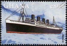 Ss Francia (1910) CGT (Francia) Revestimiento Océano Barco Sello (1998 Ghana)