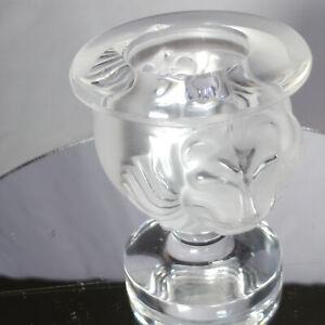 Lalique Crystal Tete De Lion  Match Holder