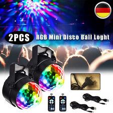 2XDisco Lichteffekt LED Discokugel DJ Party RGB Bühnenbeleuchtung Fernbedienung