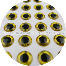 5mm 3D Gold / Wholesale 1100 Soft Molded 3D Holographic Fish Eyes, Fly Jig Lure