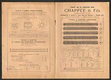 """PARIS (VI°) USINE de TUYAU / CHAUFFAGE POELE """"CHAPPEE & Fils"""" CATALOGUE en 1921"""