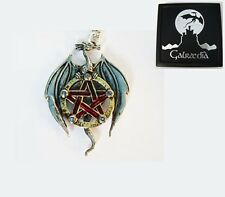 NEW EARTH DRAGON PENTAGRAM PENDANT NECKLACE Pagan Wiccan by Galraedia