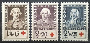 Finland Semi Postal Stamp 1935 Scott # B18-B20 Mi 188-190 MINT OG H