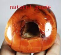 230g NATURAL RED CARNELIAN CRYSTAL QUARTZ Geode Agate Gem Specimen