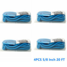 4pcs of Blue 5/8 Inch 20 FT Double Braid Nylon Dock Line Mooring Rope for Marine