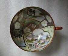ANTIQUE JAPANESE Kutani Hand Painted TEA CUP INSIDE & OUTSIDE GEISHA Decorated!