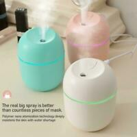 1*USB LED Humidifier Cute Essential Oil Diffuser For Car AU Room Office R9M5