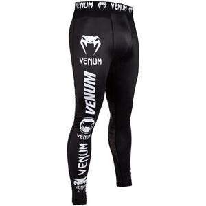Venum Logos MMA Compression Spats - Black/White