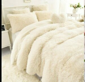 160*200cm Super Soft Shaggy Faux Fur Blanket Ultra Plush Decorative Blanket 130*