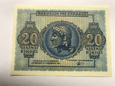 1944 Greece 20 Drachmas Gem Crisp Unc #8665
