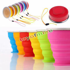 Portable Mini Travel Silicon Cup Retractable Folding Collapsible Outdoor