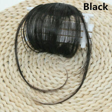 Hair Bangs Thin Air Neat Wispy Real Remy Human Clip in Fringe Front Hairpiece