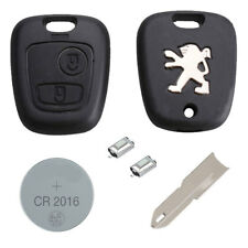 Peugeot DIY Repair Kit 2 Button Remote Car Key Fob Case with Blade 106 206 306