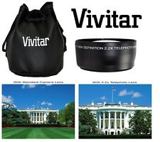 Pro HD4 Vivitar Optics 2.2x Telephoto Lens For Panasonic HC-X920K HC-X920