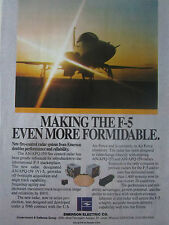 1/1989 PUB EMERSON ELECTRIC NORTHROP F-5 AN/APQ-159 FIRE CONTROL RADAR AD