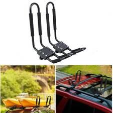 1 Pair Black Detachable Kayak Canoe Carrier for Car Roof Rack J Bars & Straps