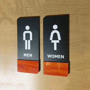 1 Set Acrylic Public Toilet Sign Male Female Gents Ladies Door Sign Shower WC