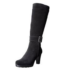 La Canadienne Merav Suede Boot Black Women Sz 11 M 5796