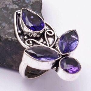 Amethyst Ethnic Handmade Ring Jewelry US Size-7 AR 38425