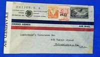 1942 - Cover to 401 Walnut Street,  Philadelphia PA Postal History Neat Stamps
