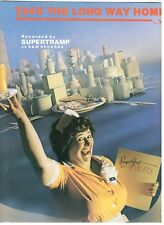 """SUPERTRAMP """"TAKE THE LONG WAY HOME"""" SHEET MUSIC-1979-BRAND NEW ON SALE-MINT-RARE"""