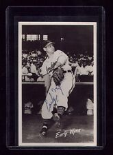 VTG 1953 CLEVELAND INDIANS EARLY WYNN SIGNED BASEBALL TEAM ISSUE GPC POSTCARD