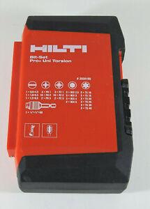 Hilti Bit-Set Pro+ UNI Torsion 60 teilig hochwertiges Set mit Box 2039195 *