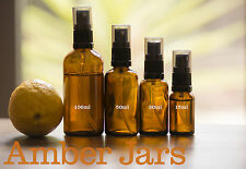 10 x 30ml Amber Glass Bottle with Spray Mist top - Aromatherapy travel or sample
