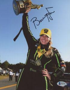 Brittany Force Signed NHRA 8x10 Photo (Beckett COA) NHRA