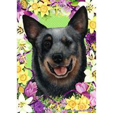 Australian Cattle Dog Blue Easter Flowers Flag
