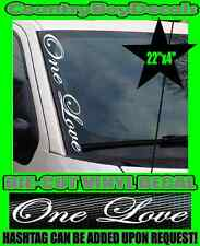 One Love VERTICAL Pillar Windshield Vinyl Decal Sticker Car Truck Turbo Jamaica