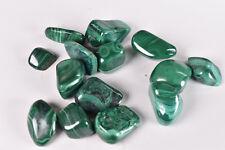 Malachite Tumble Stones Tumbled from Congo  200 gram parcel  # 10307