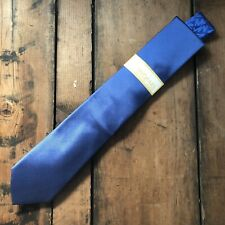 "Express Liberty Fabric Mens Skinny Blue 100% Cotton Neck Tie 2"" NWOT"