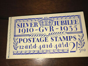 NEW 1935 Silver Jubilee 2/- booklet No.302 A very fine and fresh example SG BB16