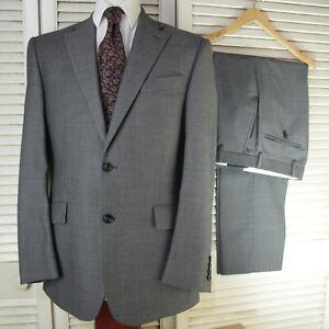 M&S Sartorial Pure Wool Grey Small Dot Pattern Suit 38M W30 L31