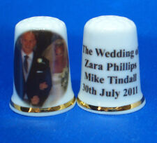 China Thimble --  Zara Phillips & Mike Tindall Wedding -- Free Dome Gift Box