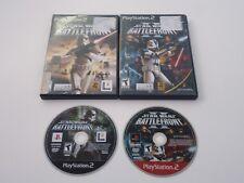Star Wars Battlefront 1 & 2 I II Sony PlayStation 2 PS2 both battle front games
