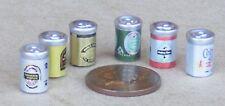 1:12 SCALA sei lattine di birra Misto Casa delle Bambole Miniatura pub-bar DRINK Accessorio