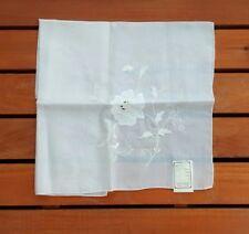 NOS Madeira Portugal Hand Embroidered White Floral Handkerchief Wedding Vintage