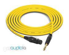 Canare Quad L-4E6S Cable | Neutrik Gold XLR-F TRS | Yellow 300 Feet | 300 Ft.