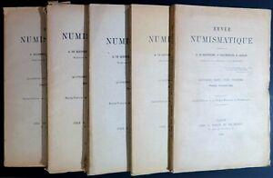 LI0044 - LOT DE 5 REVUES NUMISMATIQUE - 1899 et 4ème trimestre 1915