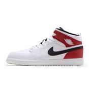 Jordan 1 Mid White/Black-Gym Red (PS) (640734 116)
