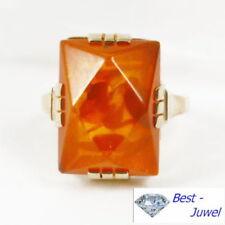 Ringe mit Edelsteinen echten Geölte aus Gelbgold für Damen