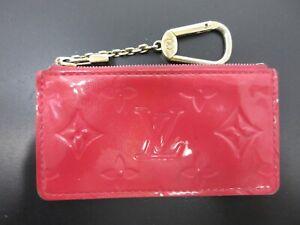 Authentic Louis Vuitton Vernis Pochette Cles M9144F Coin Purse Pink 95212